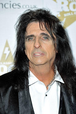 Alice Cooper at the Classic Rock Roll Of Honour.