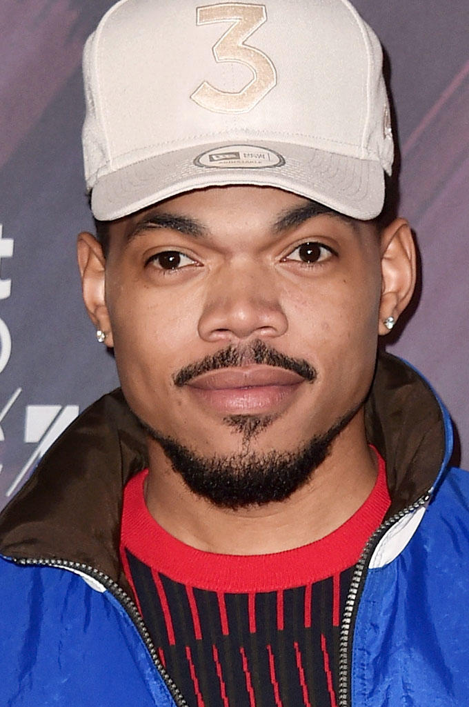 Chance Bennett (a.k.a. Chance The Rapper) at the 2018 iheartRadio Music Awards in Inglewood, California.