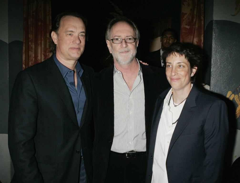 Tom Hanks, Gary Goetzman and Carolyn Strauss at the premiere of