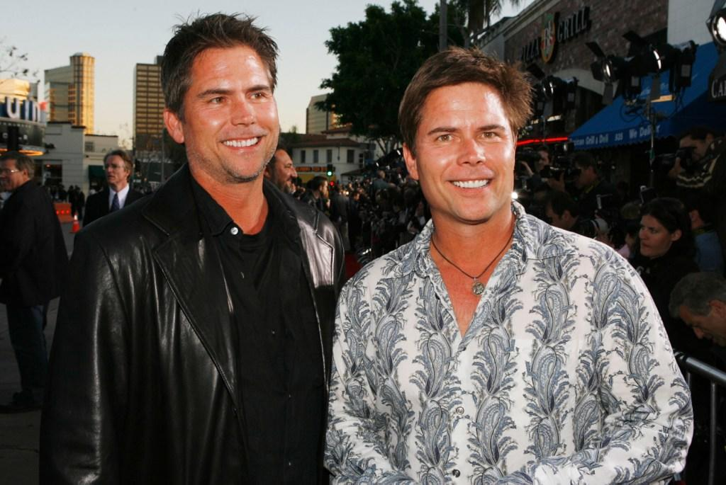 Chad Hayes and Carey W. Hayes at the premiere of