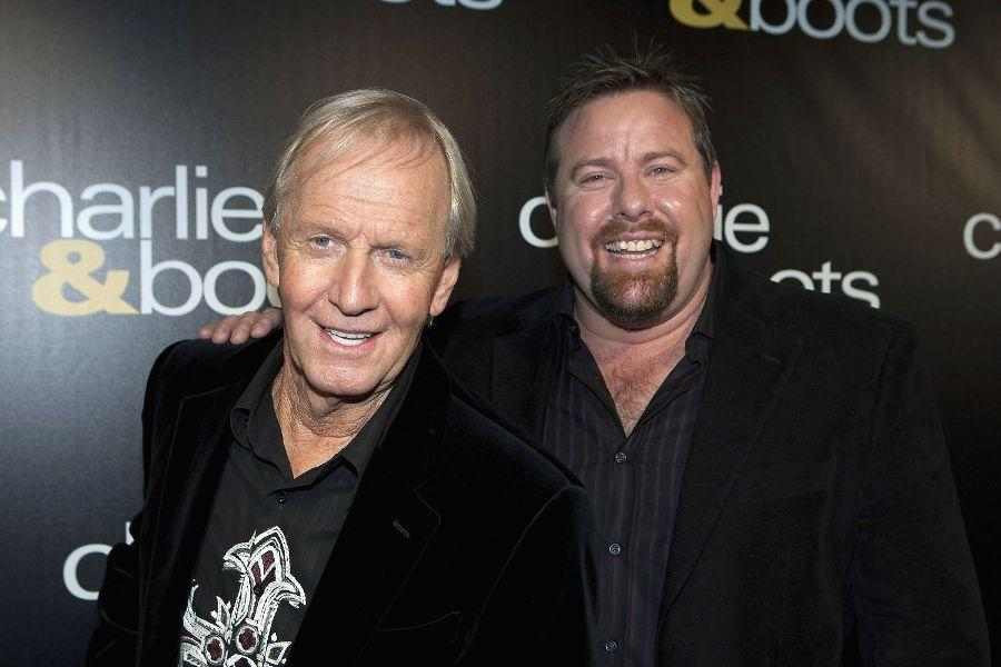 Paul Hogan and Shane Jacobson at the world premiere of