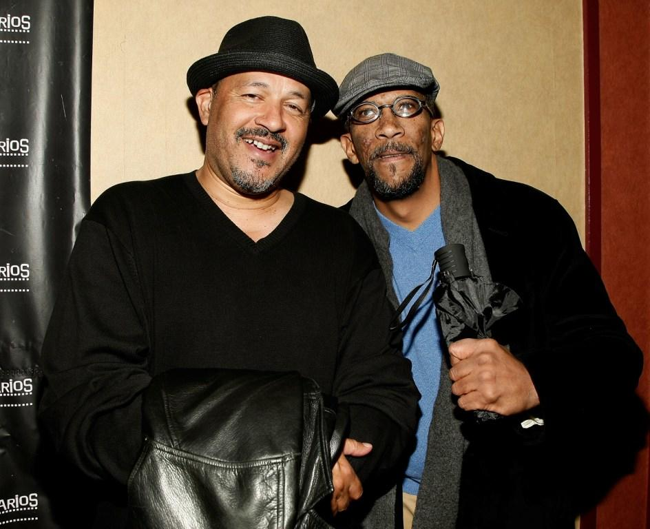 Clark Johnson and Reg E. Cathey at the premiere of