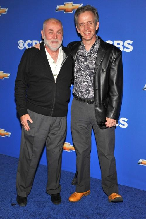 Robert Hall and Robert Joy at the CBS event