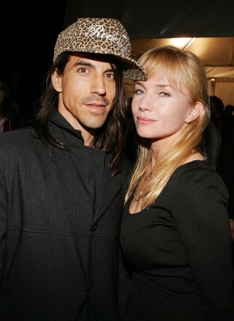 Anthony Kiedis and Rebecca De Mornay at the Agent Provocateur Fall 2006 show during the Mercedes-Benz Fashion Week.