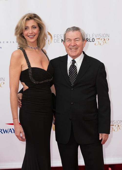 Martin Lamotte and Karine Belly at the opening ceremony of the 53rd Monte Carlo TV Festival.