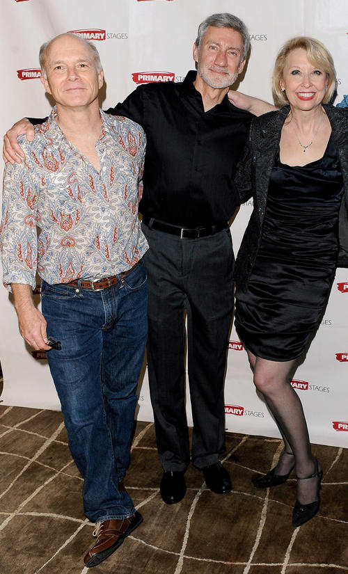 Dan Butler, David Garrison and Julie Halston at the after party of the opening night of