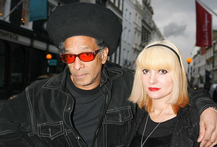 Don Letts and Princess Charlotte at the Paul Simonon: New Paintings - private view.