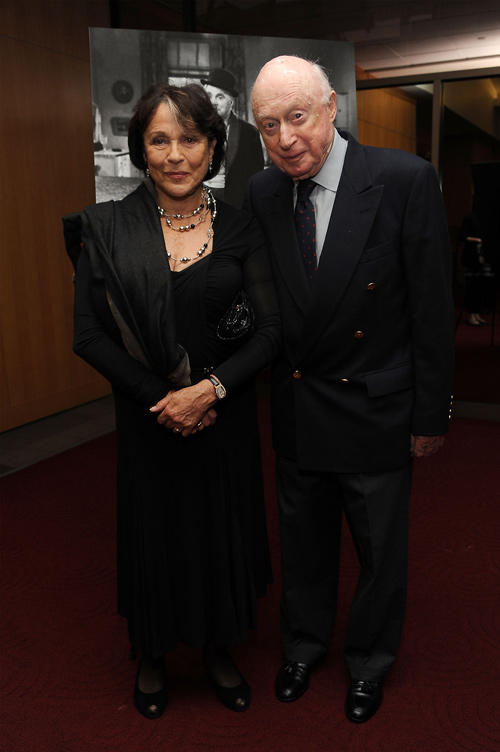 Claire Bloom and Norman Lloyd at the California premiere of