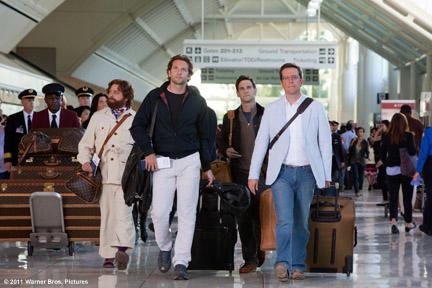 Zach Galifianakis as Alan Garner, Bradley Cooper as Phil Wenneck, Justin Bartha as Doug Billings and Ed Helms as Stu Price in ``The Hangover Part II.''