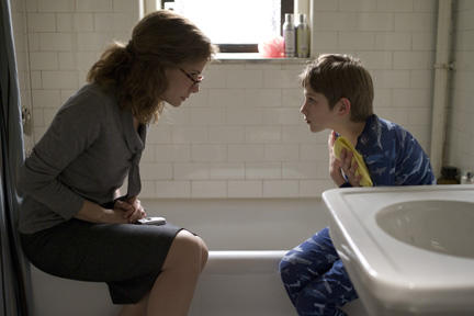 Sandra Bullock as Oskar's Mother and Thomas Horn as Oskar Schell in ``Extremely Loud & Incredibly Close.''