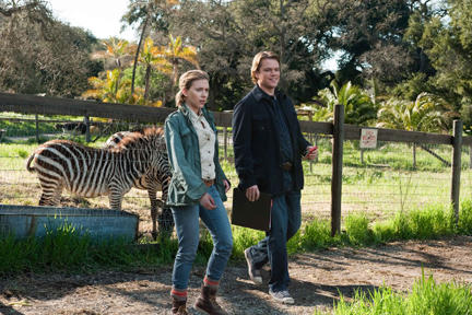 Scarlett Johansson as Kelly Foster and Matt Damon as Benjamin Mee in ``We Bought a Zoo.''