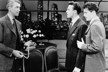 James Stewart, John Dall and Farley Granger in Alfred Hitchcock's