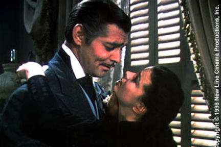 Clark Gable as Rhett Butler and Vivien Leigh as Scarlett O'Hara in ``Gone with the Wind.''