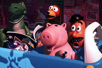 Rex, Slinky Dog, Hamm and Mr. Potato Headr in Disney's Toy Story 2