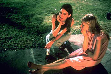 Director Sofia Coppola and Kirsten Dunst on the set of Paramount Classics' The Virgin Suicides