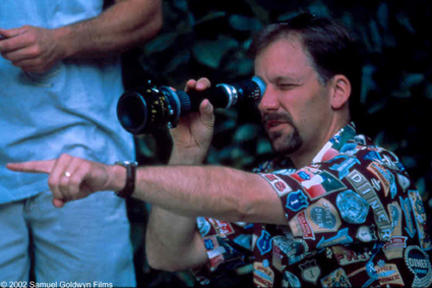 Director Blair Treu on the set of