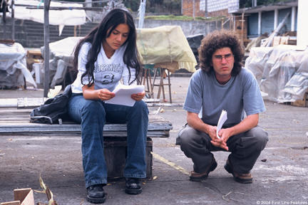 Catalina Sandino Moreno and Director Joshua Marston in