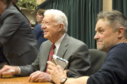 President Jimmy Carter and director Jonathan Demme in