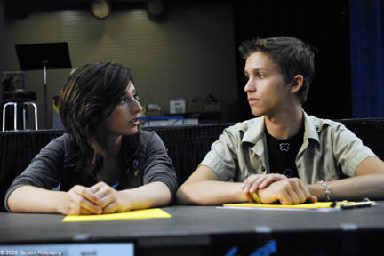 Najarra Townsend as Tru and Tye Olson as Walter in