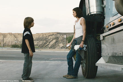 Jimmy Bennett as Peter and Michelle Monaghan as Diane in