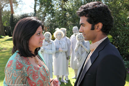 Goldy Notay as Roopi and Sendhil Ramamurthy as D.S. Murthy in
