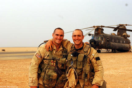 Pat Tillman and Kevin Tillman in