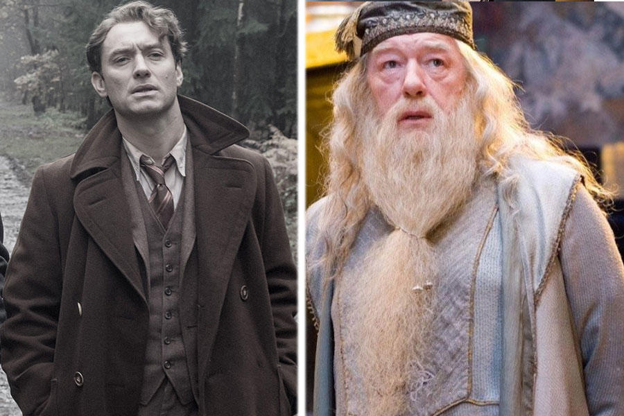 young dumbledore will be played by jude law in the