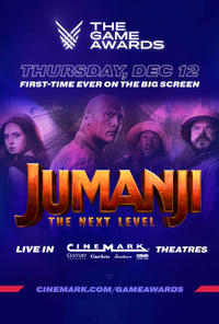 The Game Awards 2019 + Jumanji: The Next Level Early Screening poster