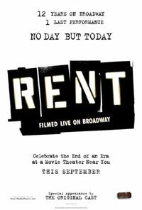 Rent Filmed Live on Broadway Movie Poster