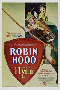 The Adventures of Robin Hood/ Captain Blood Movie Poster