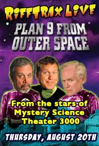 RiffTrax LIVE: Plan 9 from Outer Space Movie Poster