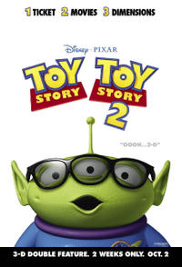 Toy Story 1 & 2 in 3D Double Feature Movie Poster