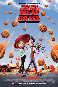 Cloudy with a Chance of Meatballs 3-D Movie Poster