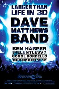 Dave Matthews in 3D: Larger than Life Movie Poster