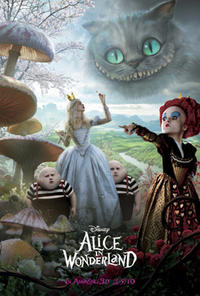 Alice in Wonderland in Disney Digital 3D Movie Poster
