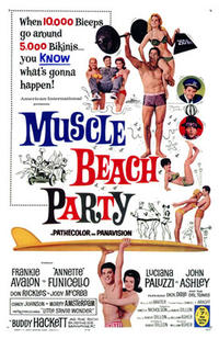 Muscle Beach Party / Beach Blanket Bingo Movie Poster