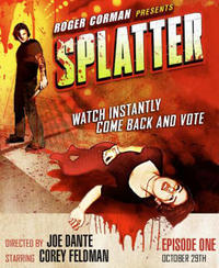 Roger Corman's Splatter & Danny DeVito's Blood Factory Double Feature Movie Poster