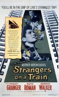 Strangers on a Train / Lifeboat Movie Poster