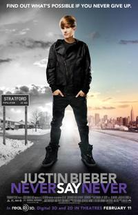 Justin Bieber: Never Say Never 3D Movie Poster