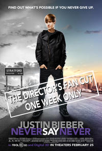 Justin Bieber Never Say Never: The Director's Fan Cut 3D Movie Poster