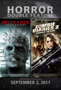 Hellraiser: Revelations / Zombies Diaries 2: World of the Dead Movie Poster