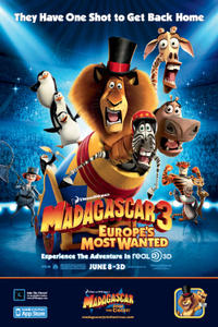 Madagascar 3: Europe's Most Wanted 3D Movie Poster