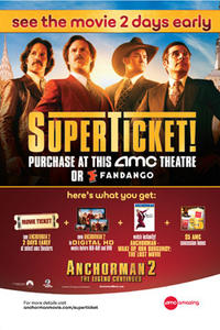 SuperTicket Premiere: Anchorman 2: The Legend Continues Movie Poster