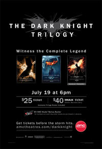 AMC's The Dark Knight Trilogy Movie Poster