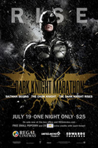 Regal's Dark Knight Marathon Movie Poster