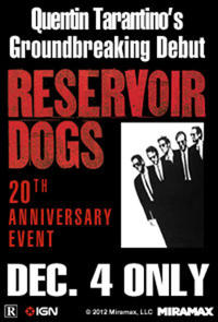 Tarantino XX: Reservoir Dogs 20th Anniversary Event Movie Poster