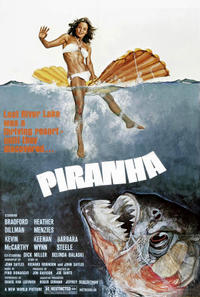 Piranha / Grizzly / Alligator Movie Poster
