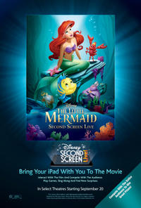 The Little Mermaid Second Screen Live! Movie Poster