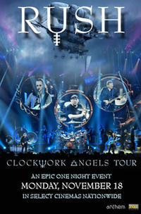 RUSH Clockwork Angels Tour  Movie Poster