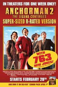 Anchorman 2: The Legend Continues Super-Sized R-rated Version Movie Poster